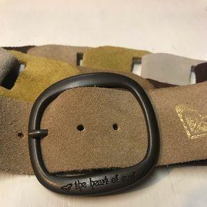 Roxy suede belt